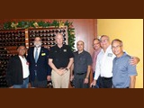 Bob K4UEE (3rd from left) with members of the Puerto Rico Amateur Radio League...