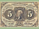 Postal Currency 5¢ (front)